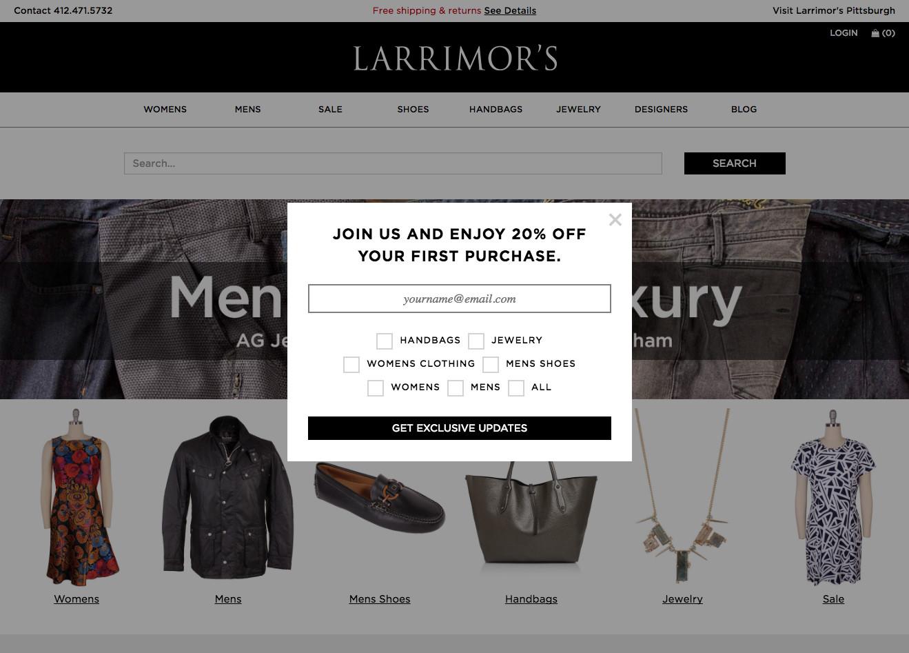 Larrimor's Discount